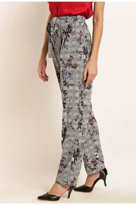 Womens Floral Print Casual Pants