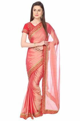 ASHIKA Designer Saree With Blouse Piece