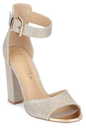 TRUFFLE COLLECTIONWomens Party Wear Buckle Closure Heeled Sandals - 204615546_9106