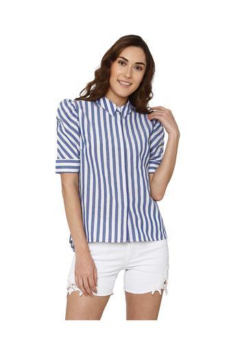 5329524b87 Buy VERO MODA Womens Striped Casual Shirt   Shoppers Stop