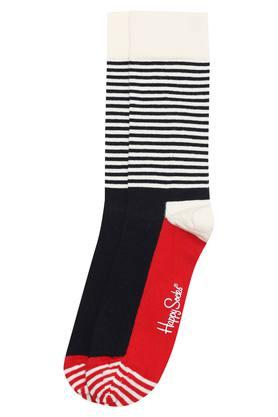 HAPPY SOCKS Mens Full Length Half Stripe Socks
