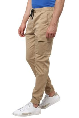 Mens 6 Pocket Solid Joggers