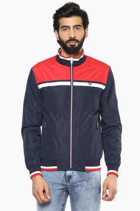 IZODMens Zip Through Neck Colour Block Jacket