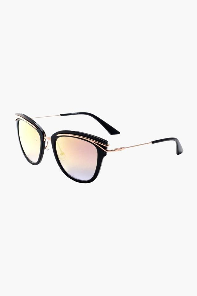 Womens Cat Eye Polycarbonate Sunglasses - 002 C2 S