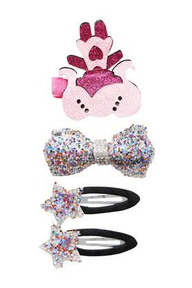 Girls Embellished Clip Pack of 4