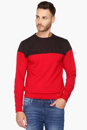 PROLINEMens Round Neck Colour Block Sweatshirt