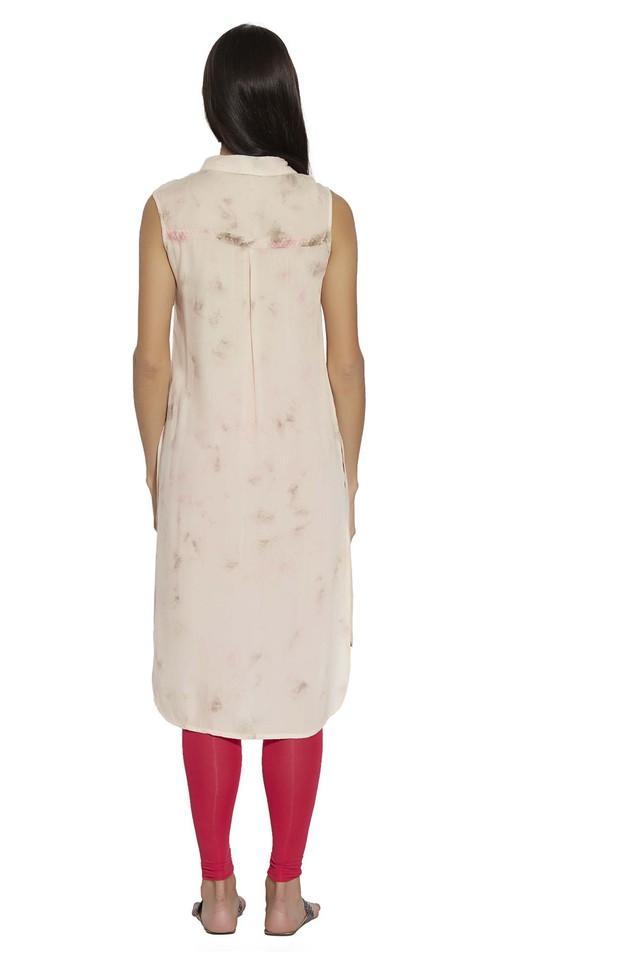 Womens Collared Printed Tunic
