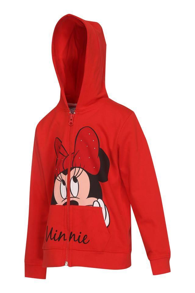 Girls Hooded Neck Printed Sweatshirt