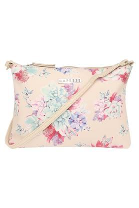CAPRESEWomens Zipper Closure Sling Bag
