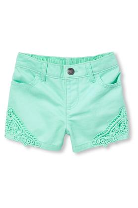 Girls 4 Pocket Embroidered Shorts