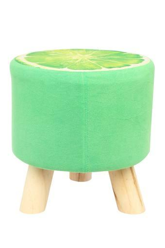 Round Lemon Printed Stool