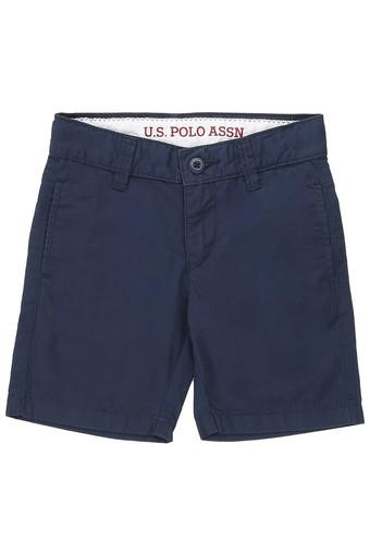 Boys 4 Pocket Solid Shorts