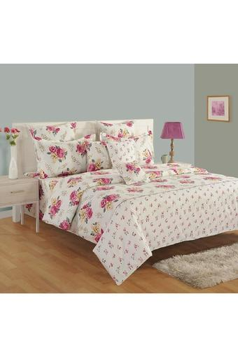 Cotton Floral Printed Double AC Comforter