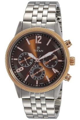 Mens Chronograph Leather Watch - 1734KM03
