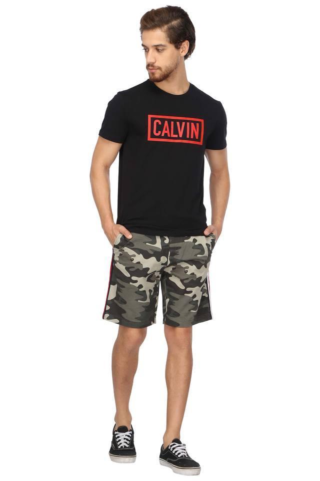 Mens 4 Pocket Camouflage Shorts