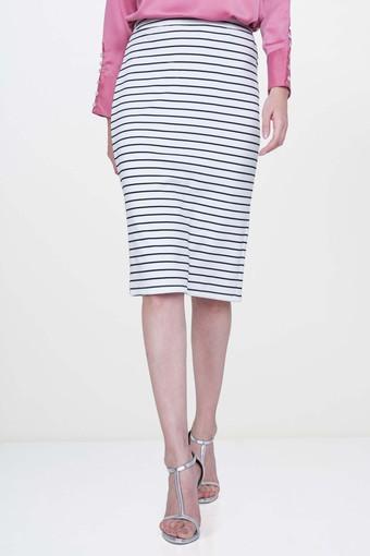 Womens Stripe Pencil Skirt