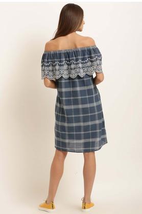 Womens Off Shoulder Neck Shift Dress