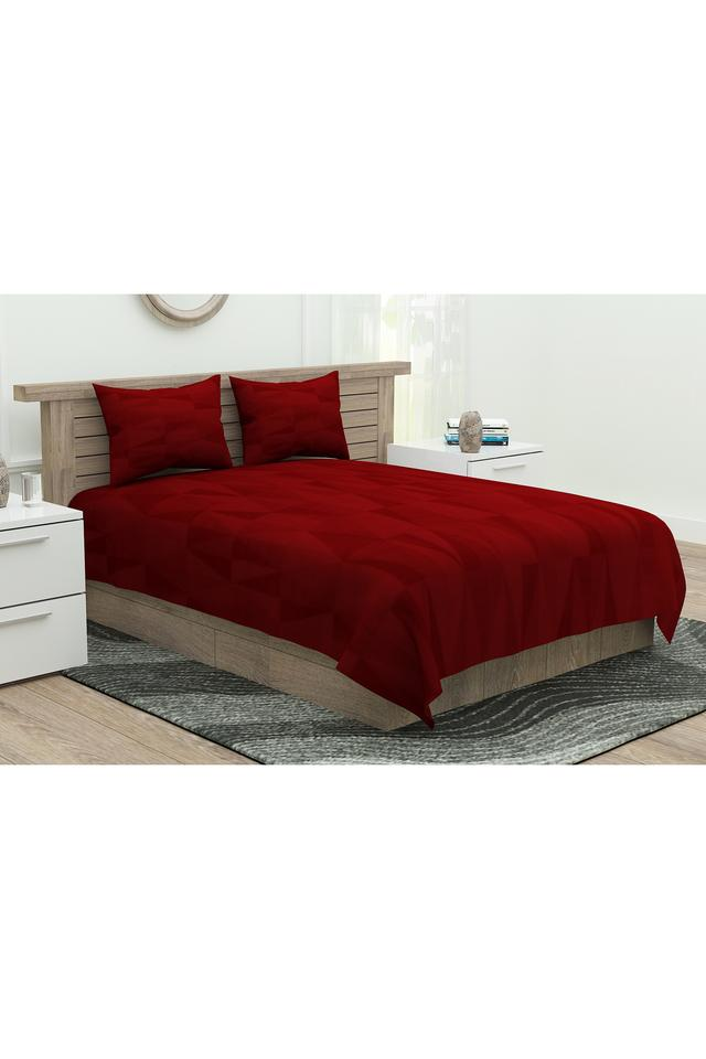 Printed King Flat Sheet with 2 Pillow Covers