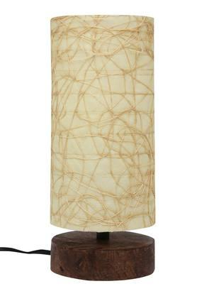 BACK TO EARTH Cylindrical Combi Alps Electrical Table Lamp - 20cms