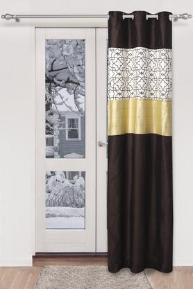 Dupion Printed Embellished Door Curtain
