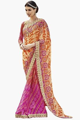 DEMARCA Womens Faux Georgette Printed Saree - 203229521
