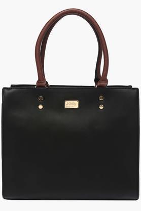 ALLEN SOLLYWomens Casual Wear Zipper Closure Tote Handbag