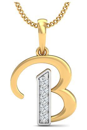 P.N.GADGIL JEWELLERSWomens The 'B' Diamond Pendant DJPD-191