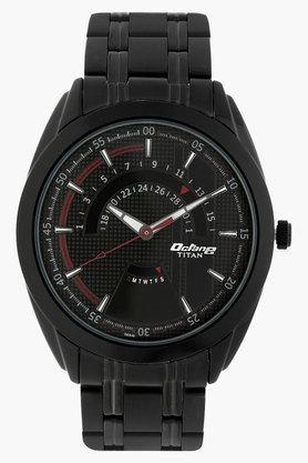 TITANMens Octane Black Dial Analog Watch - NJ1582NM01B
