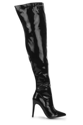 Womens Party Wear Zipper Closure Thigh High Boots