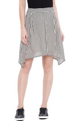 U.S. POLO ASSN.Womens Stripe Asymmetrical Skirt