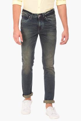 FLYING MACHINEMens Skinny Fit Vintage Wash Jeans (Jackson Fit)