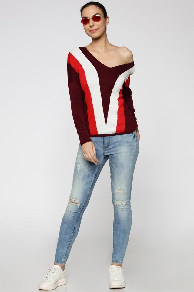 Womens Skinny Fit 5 Pocket Stone Wash Jeans