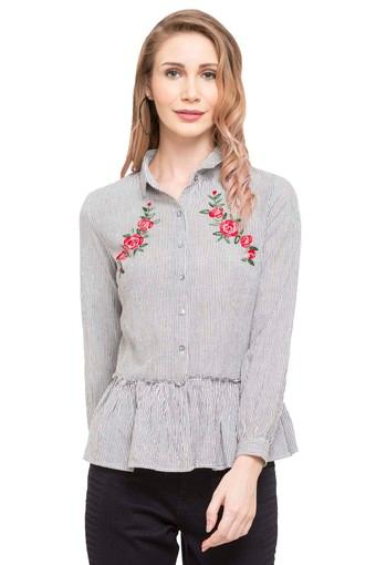 Womens Embroidered Casual Top