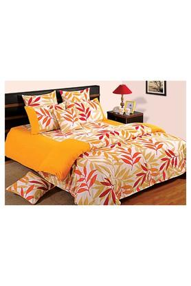 SWAYAMPrinted Double Bed Sheet, Comforter And Pillow Covers Set - 204584227_9407