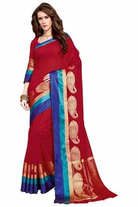 ASHIKA Designer Cotton Silk Saree With Blouse Piece - 204034693_9607