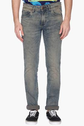 LOUIS PHILIPPE JEANS Mens Slim Fit Vintage Wash Jeans