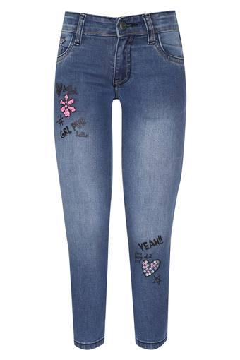 Girls 5 Pocket Embellished Jeans