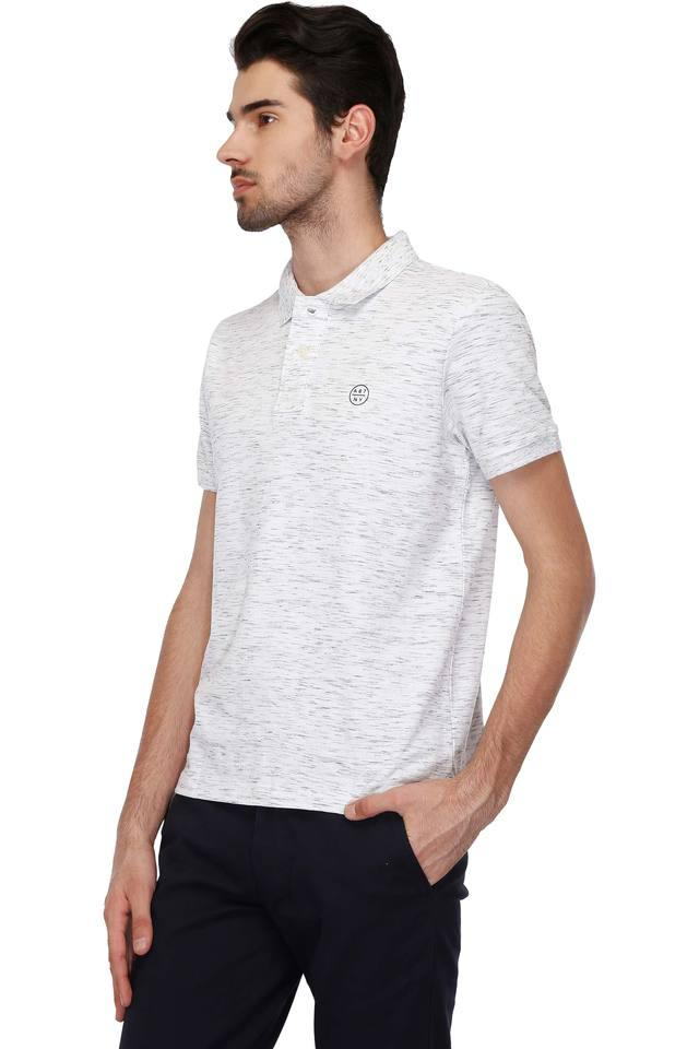 Mens Regular Fit Printed Polo T-Shirt