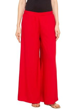 Womens Slim Fit Solid Pants