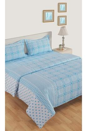 SWAYAMPrinted Double Bed Sheet With 2 Pillow Covers And Double AC Comforter