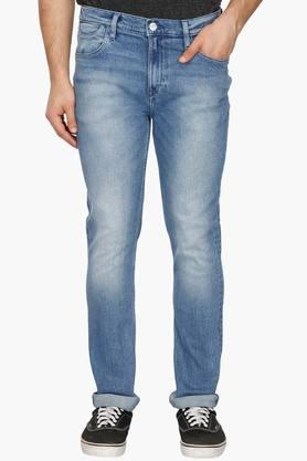 LEE Mens Skinny Fit Heavy Wash Jeans (Bruce Fit)