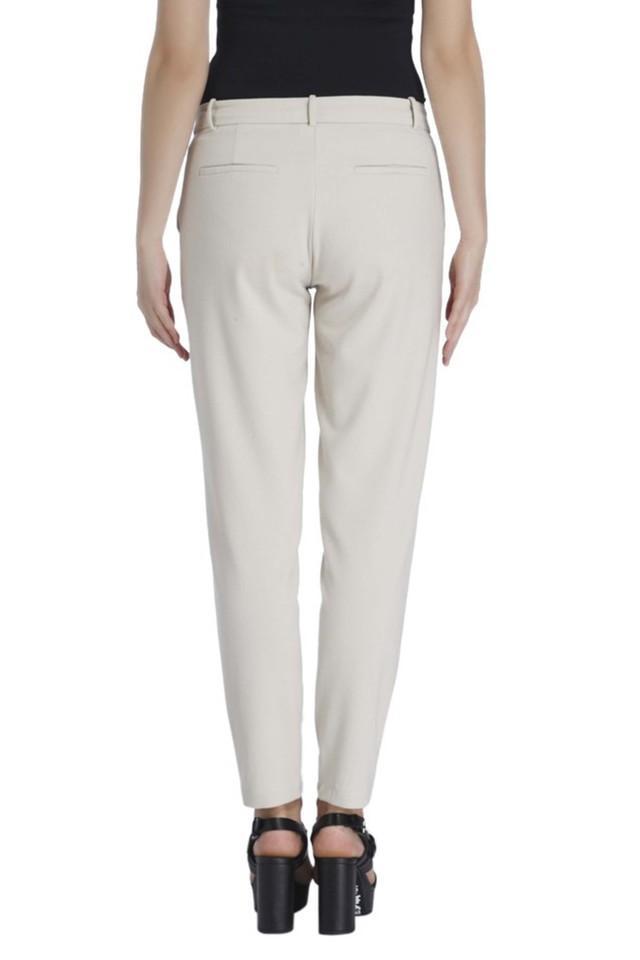 Womens 4 Pocket Regular Fit Solid Pants