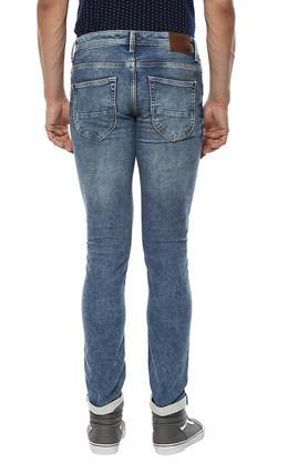 Mens Regular Fit Stone Wash Jeans