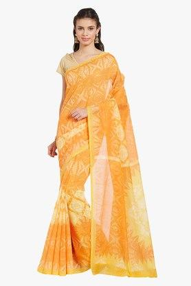 JASHN Womens Tie Dye Print Cotton Saree