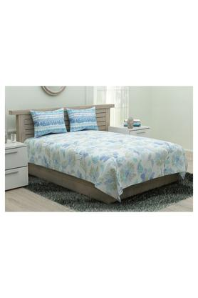 Floral Print King Double Bed Sheet with 2 Pillow Covers