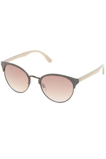 Womens Gradient and UV protected Lens Browline Sunglasses - IDS2496C3SG