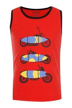 Boys Round Neck Printed Sando T- Shirt