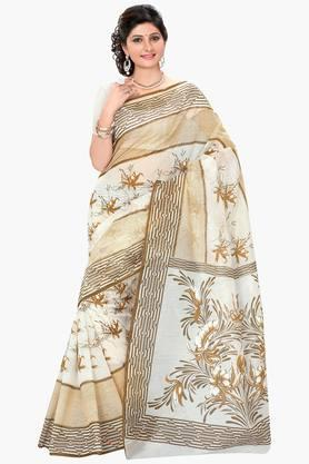 DEMARCA Womens Cotton Blend Printed Saree - 203229500