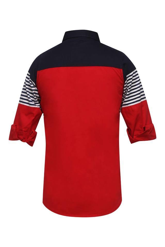 Boys Colour Block Casual Shirt