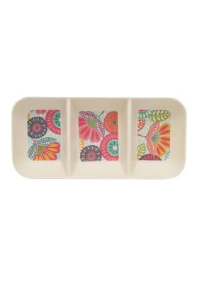 3 in 1 Rectangular Fantasia Printed Snack Plate